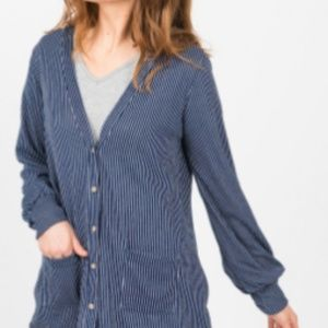 Blouson Essential Cardi Navy and White Stripe
